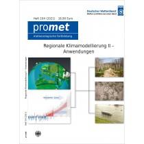 """Titelseite der Publikation Promet Heft 104 mit dem Titel Regionale Klimamodellierung II ‒ Anwendungen  (inkl. Jubiläumsseiten """"50 Jahre promet"""")"""