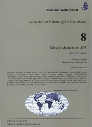 Klimaforschung in der DDR  (Geschichte der Meteorologie Nr. 8)