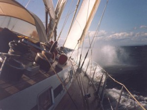 Küstenwetter in Zeitreihenform
